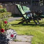 Sonnenbaden im Garten